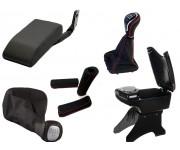 Подлокотники, ручки КПП и ручника