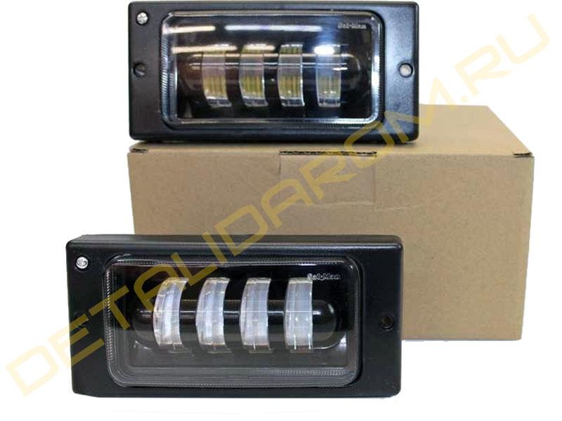 LED ПТФ Sal-Man 4 полосы 40 Вт на ВАЗ 2110-2112, 2113-2115, Шевроле Нива до 2009 г.в.