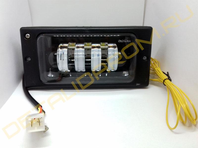 LED ПТФ Sal-Man 7 полос (ближний свет 60W и дальний 50W) на ВАЗ 2110-2112, 2113-2115, Шевроле Нива до 2009 г.в.