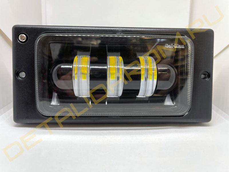 LED ПТФ Sal-Man двухцветные (белый и желтый) 3 полосы 40 Вт на ВАЗ 2110-2112, 2113-2115, Шевроле Нива до 2009 г.в.